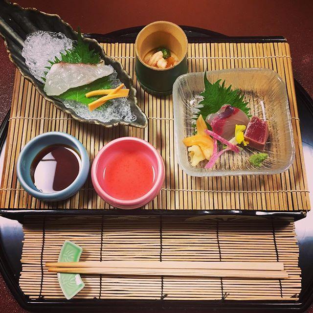 #japanesefood #kaiseki #日本食 #懐石 . 芝海老とオクラのポン酢ジュレ 駿河湾 真鯛焼〆と間八 by bff_sweetie