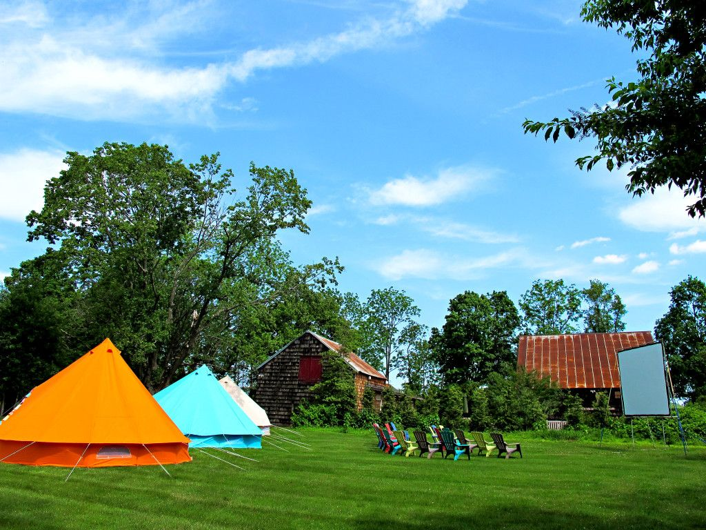 Rock Maple Farm Wedding- Canvas tents pitched for the guests by Suburban C&ing Company : farm tents - memphite.com
