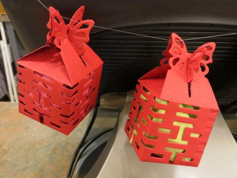 Double Happiness gift boxes - we're wrapping jewelry in these. Such fun!