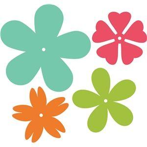 Silhouette Design Store - View Design #17648: 5-petal flowers
