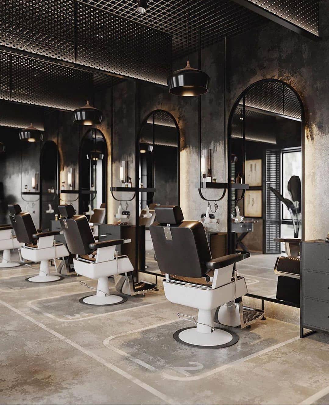 Barbershop💈 Visualization by kurilovdesign   Barber shop decor ...