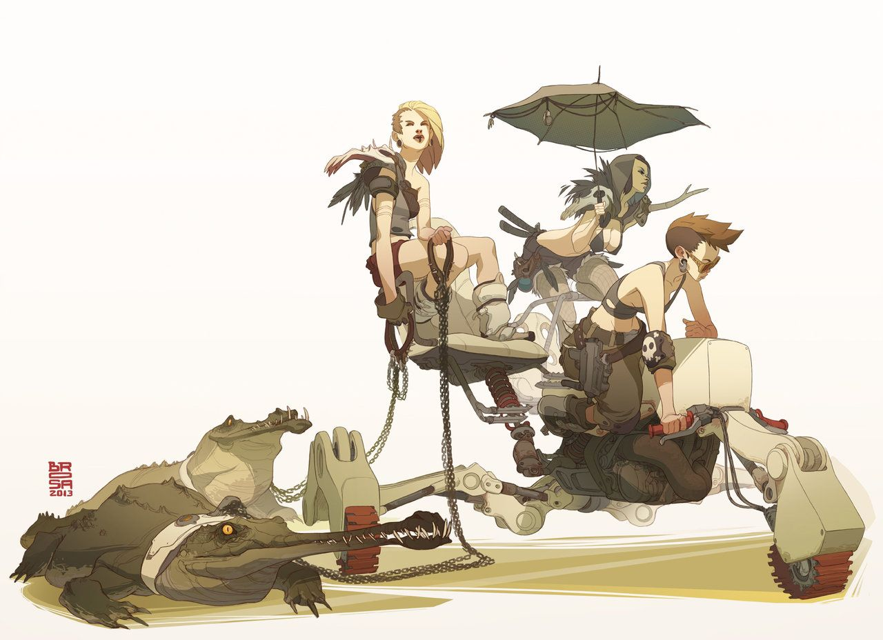 Desert Pirate Girls by Brosa.deviantart.com on @DeviantArt