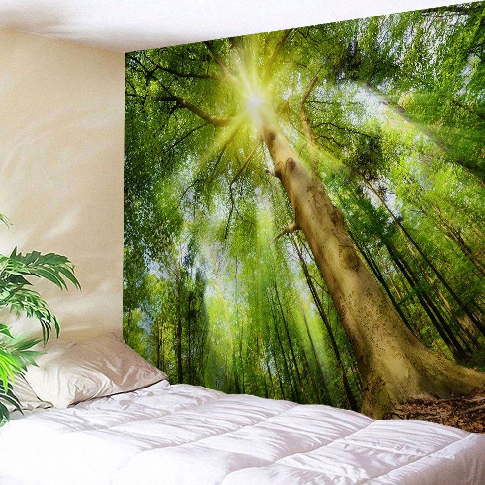 sunshine grove decorative tapestry wall art yellow green on walls coveralls website id=29350
