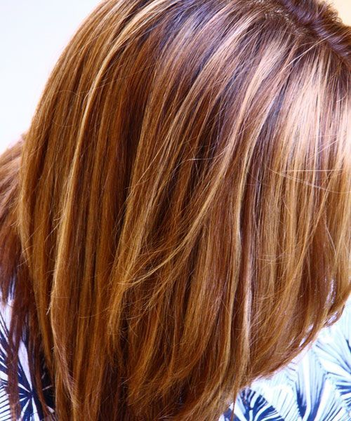 Double highlights blonde and honey highlights the process love the color for summer hair image detail for blonde and honey highlights in mid length dark brown hair with layers pmusecretfo Image collections
