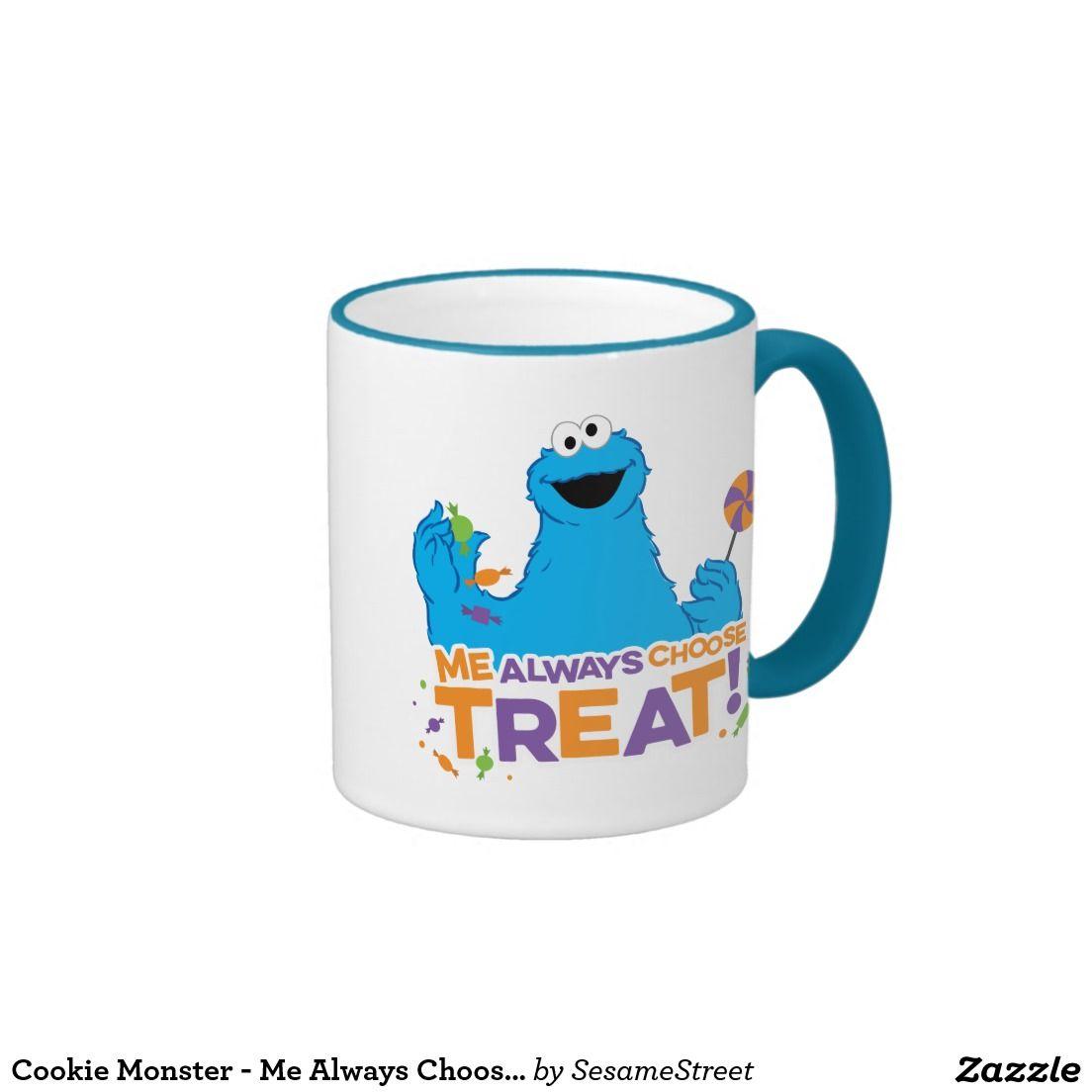 Cookie Monster - Me Always Choose Treat. Regalos, Gifts. #taza #mug