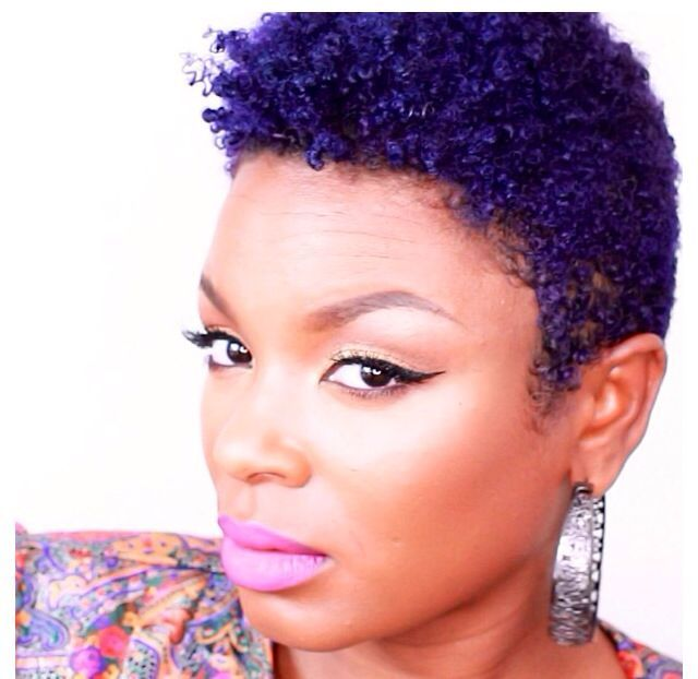 Short Natural Hairstyles With Color On Dark Skinned Women Google