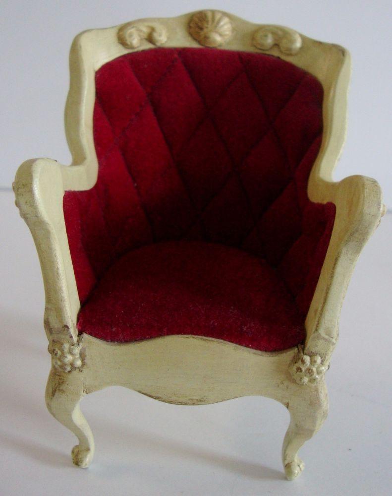 Vintage Sonia Messer Dollhouse Furniture 18th Century