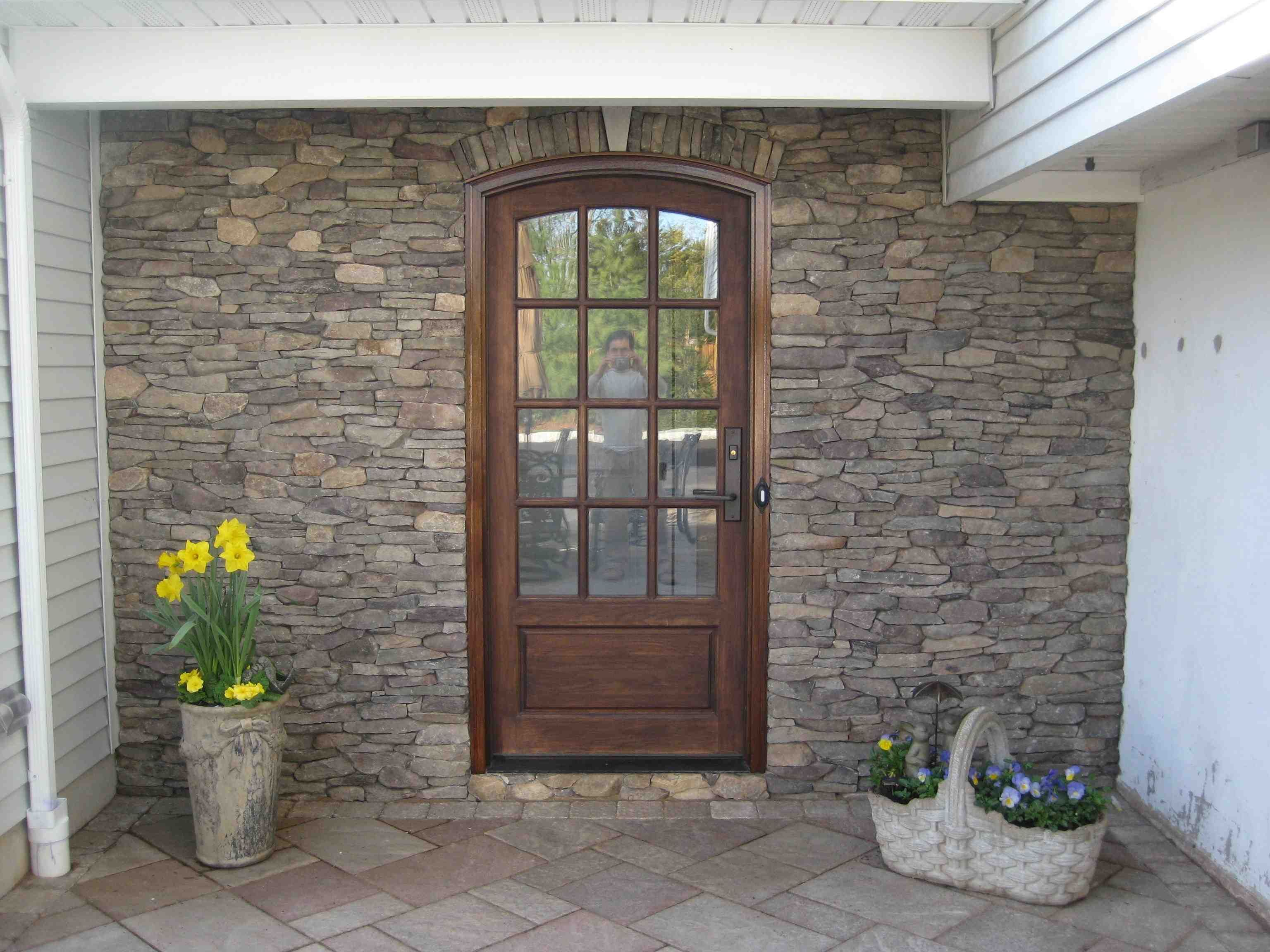 Exterior: Love This Door And The Stone Work: Bridgewater, NJ