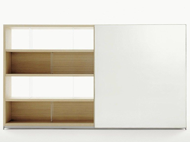 Librer a abierta de madera colecci n mida by maxalto a for B b italia spa