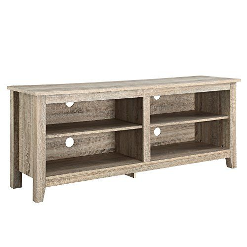 We Furniture Wood Tv Stand 58 Inch Natural