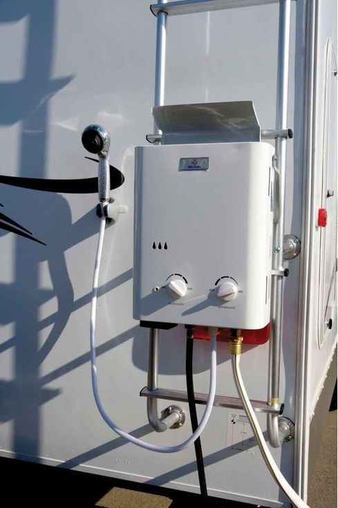 Great Idea Camping Shower Horse Trailer Living Quarters Tankless Water Heater