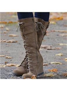 Camel Coppy Leather Stiletto Heel Knee High Boot with Amazing ...