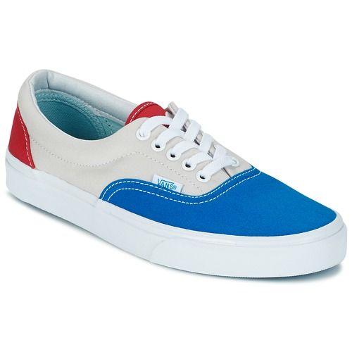chaussures vans rouge bleu