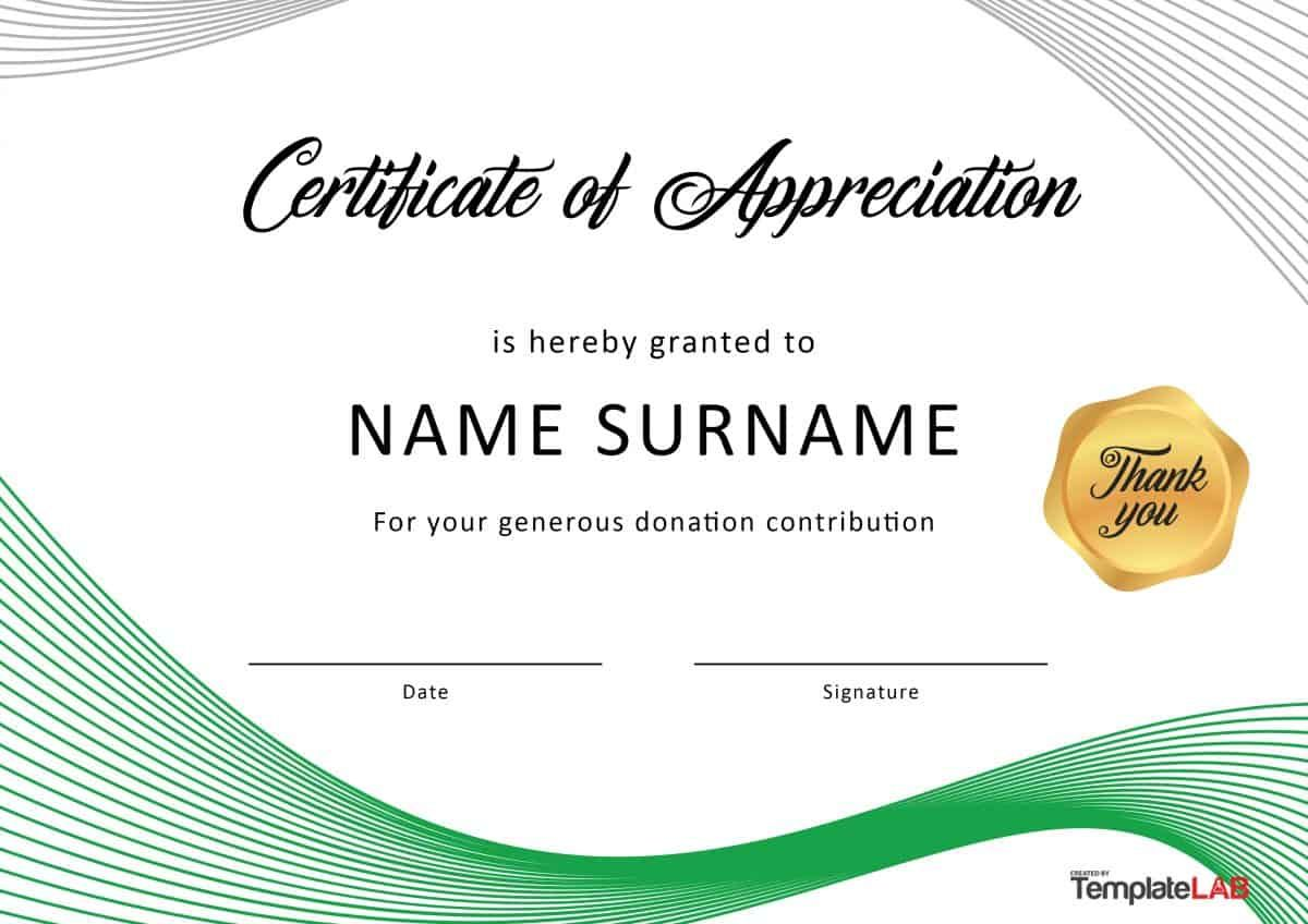 Download Certificate Of Appreciation For Donation 01 Certificate Of Recognition Template Certificate Of Appreciation Certificate Of Participation Template Free download certificate of appreciation