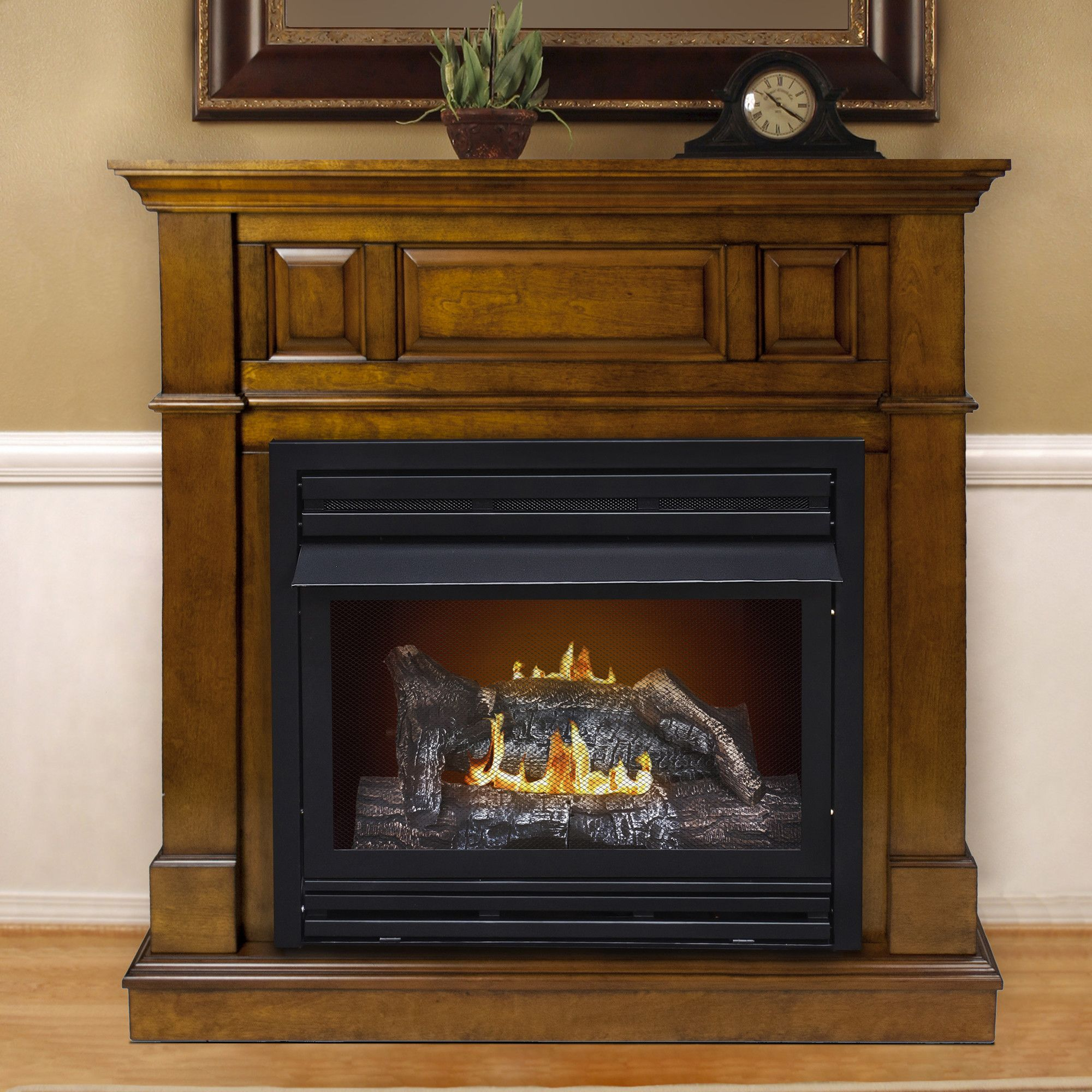 dual fuel vent free wall mount gas fireplace products pinterest