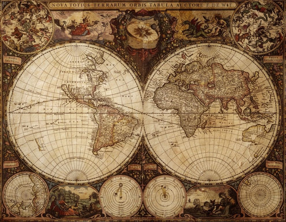 Vintage antique world map wallpaper from art paper pinterest vintage antique world map wallpaper from gumiabroncs Image collections