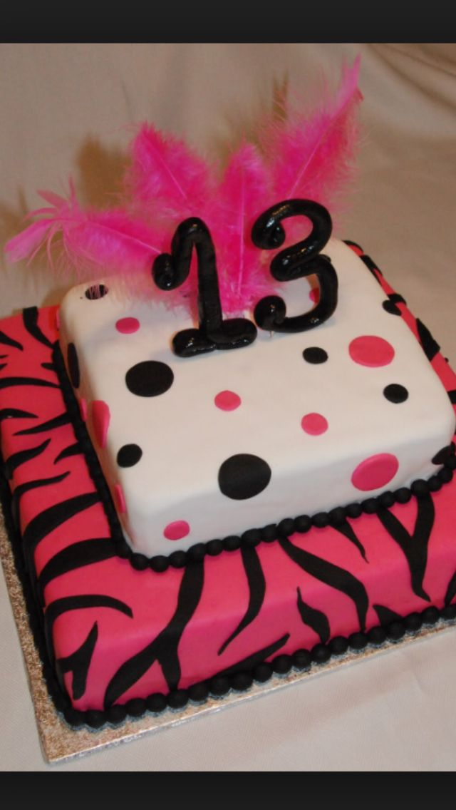 13 Years Old Cake With Images 13 Birthday Cake My Birthday