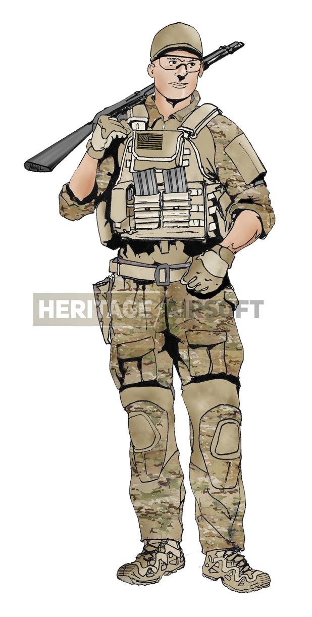 Army Men Commando Combat désert extérieur camouflage