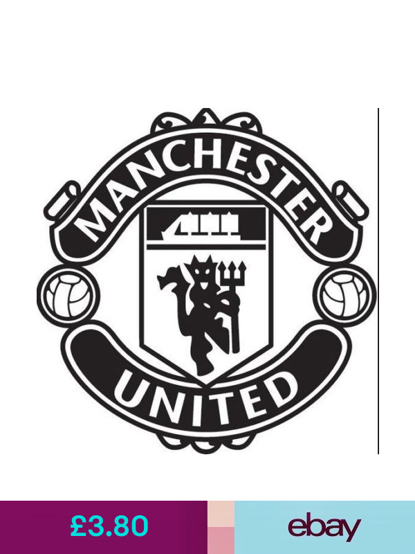 Manchester United Football Club Quality Vinyl Decal Manchester United Logo Manchester United Manchester United Football
