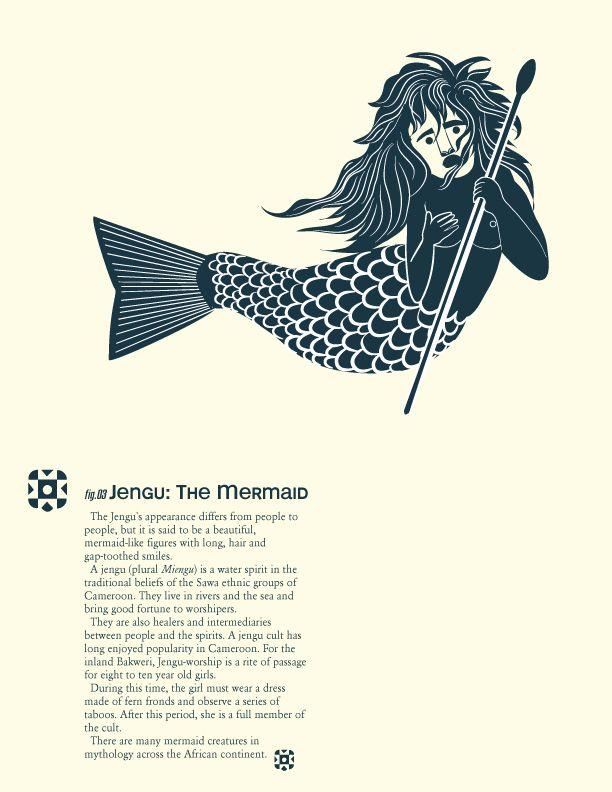 Jengu Water Spirit   Creatures from African Mythology: Jengu   Mami