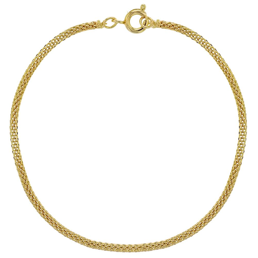 K gold plated thin mesh tube chain women bracelet
