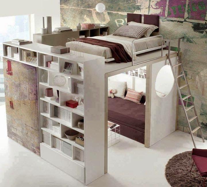 petit salon et bibliothque pour les petits espace ide dco sympa httpdeco chambresblogspotcom201402lit mezzanine adulte avec un petit html