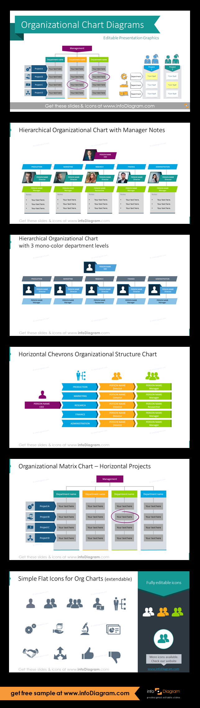 Company Organizational Structure Charts Ppt Diagrams Work Stuff