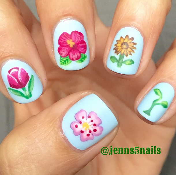 396 notes · #nails #nail art #spring #emoji #emoji nails #spring ...