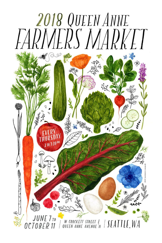 Qafm Poster Series Queen Anne Farmers Market Farmers Market Poster Series Farmer