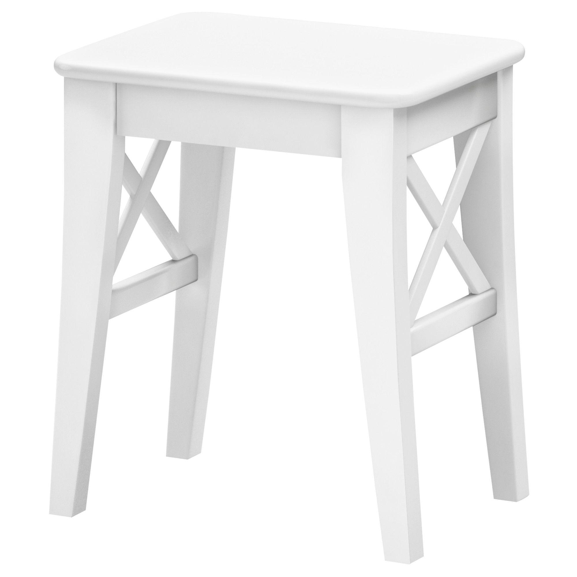 Ikea Ingolf White Stool Makin My House Pretty Stool
