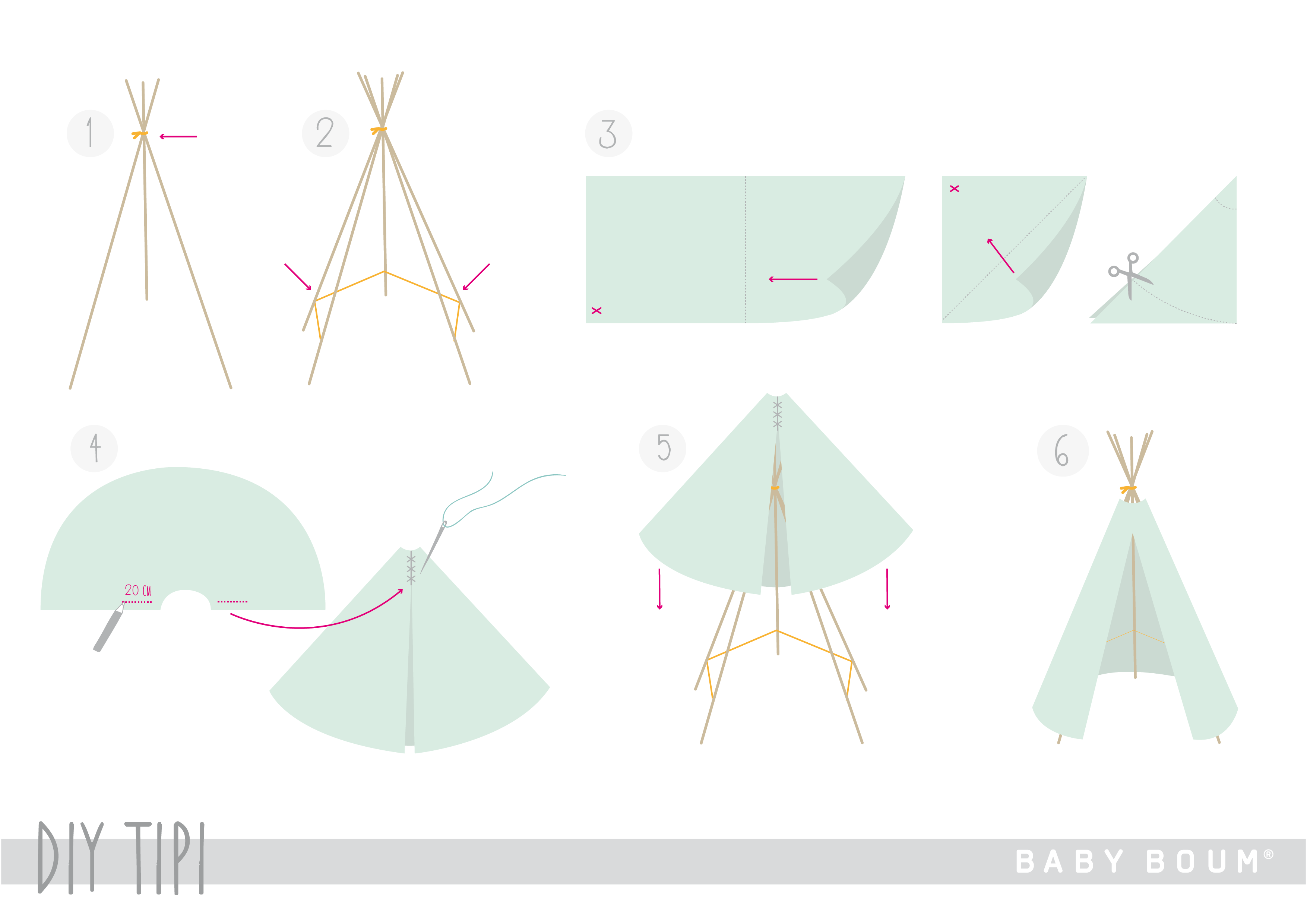 un chouette tipi diy en deux temps trois mouvements blog bemini by baby boum to make. Black Bedroom Furniture Sets. Home Design Ideas