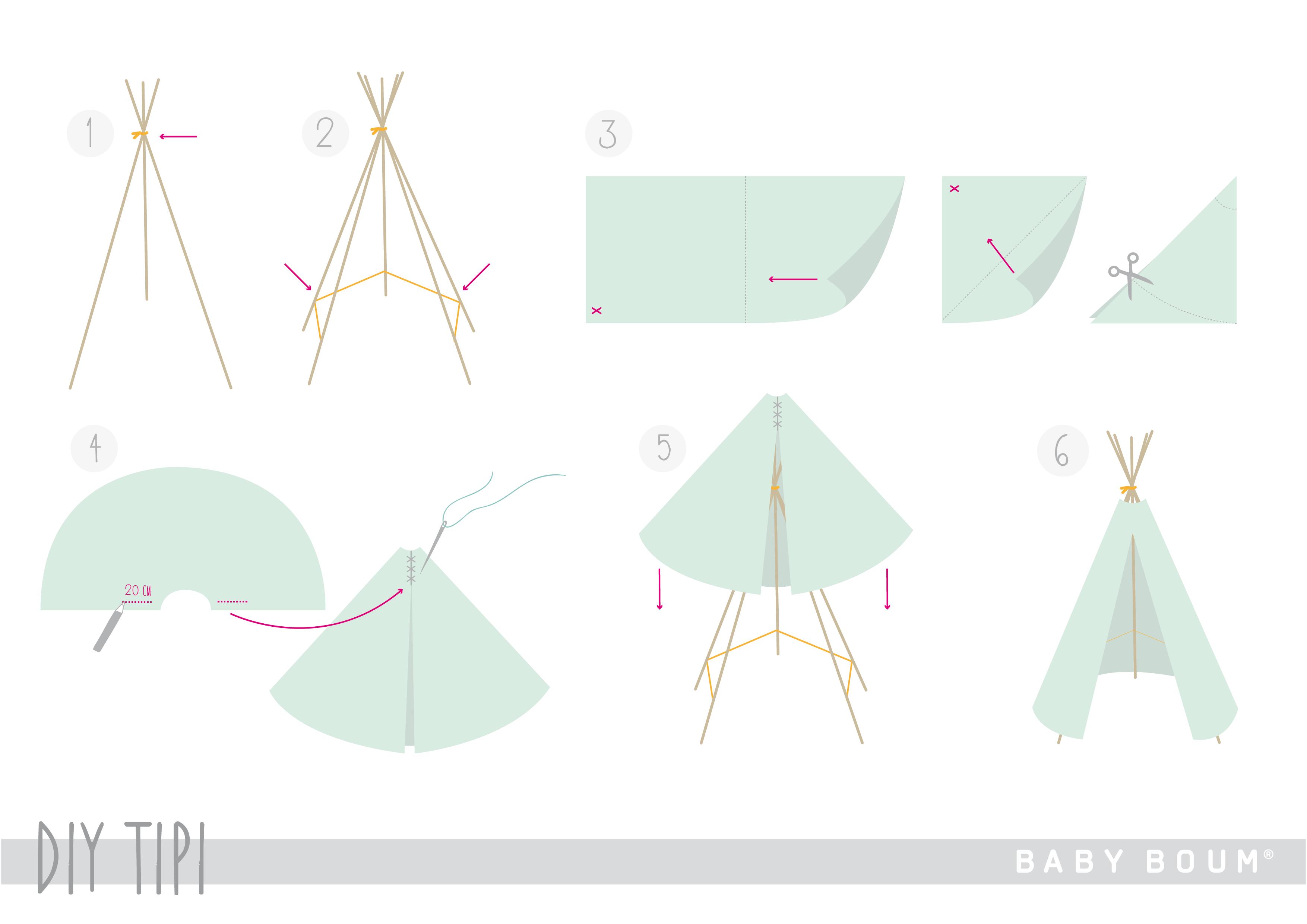 un chouette tipi diy en deux temps trois mouvements blog. Black Bedroom Furniture Sets. Home Design Ideas