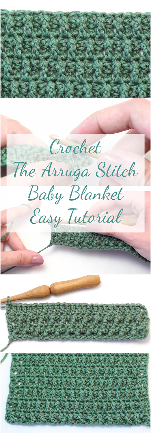 Crochet The Arruga Stitch Baby Blanket - Easy & Free Video Tutorial ...