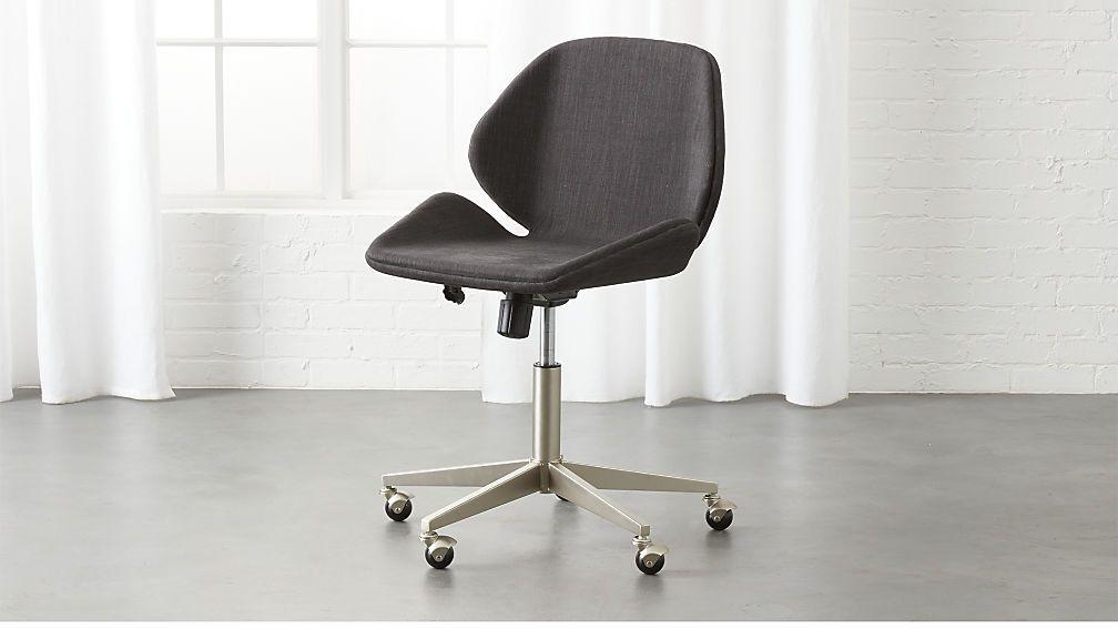 Milton Grey Office Chair Cb2 Modern Office Chair Chair Grey Desk Chair