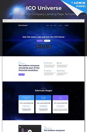 Cryptocurrency ico website template