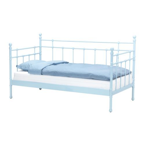 Metallbett ikea tromsnes  Modern Metal Daybed IKEA With Blue Comforter | Daybeds | Pinterest ...