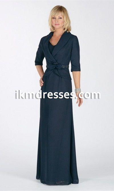 Navy Wedding Mother Dresses Evening