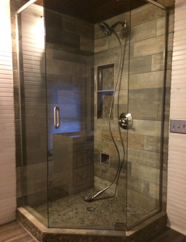 8 Wood Tile Bathroom Design Ideas  Wood tile bathroom, Wood tile