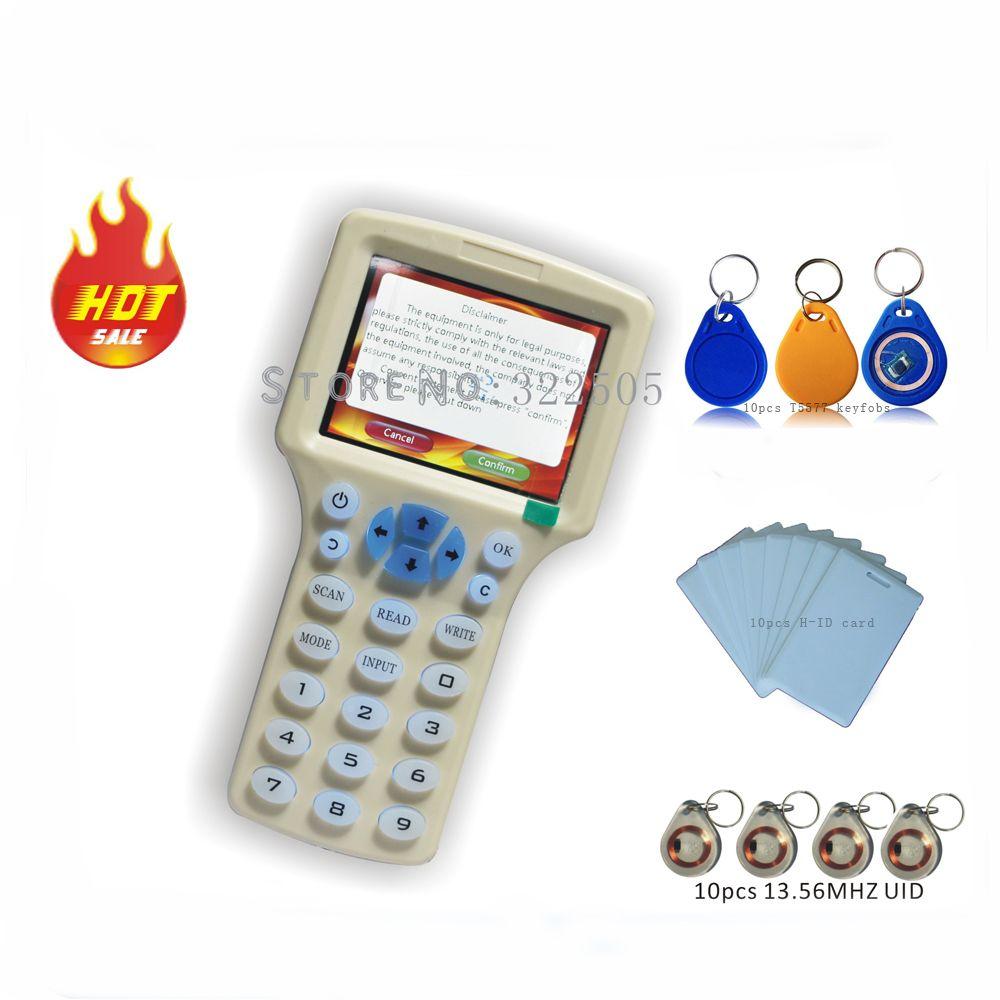 Updated version Handheld 125KHz -13 56MHZ RFID Copier Writer