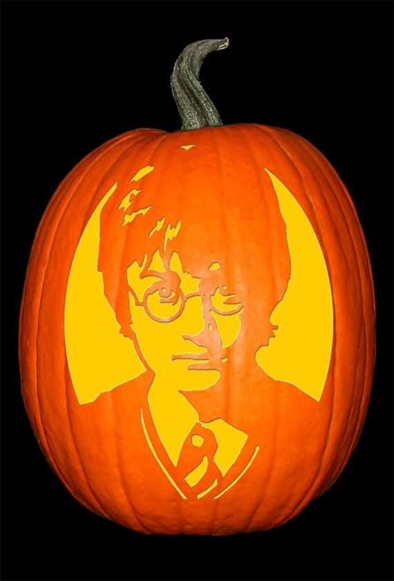 Harry Potter Stencil Harry Potter Stencils Harry Potter Pumpkin Halloween Silhouettes