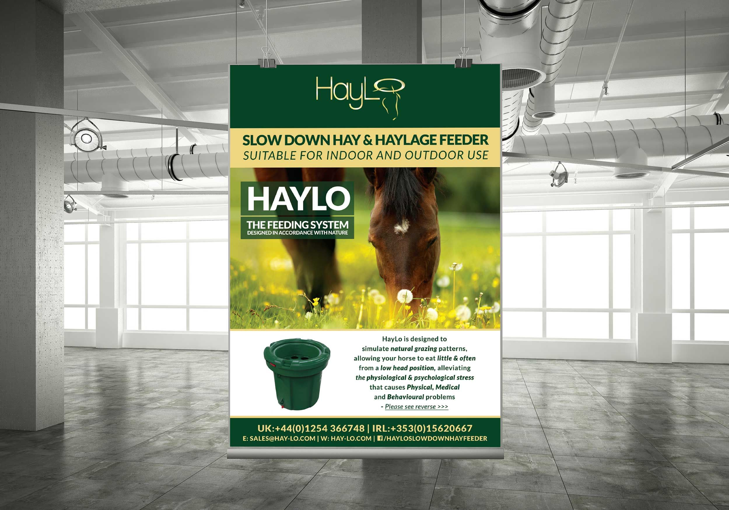 Haylo horsefeeder poster alias marketing and design printers dublin cheap printing services in tallaght dublin 24 reheart Gallery