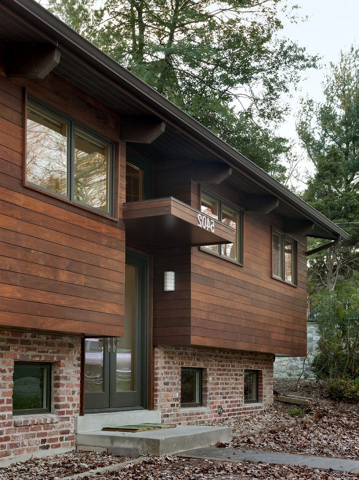 Modern Wood House Exterior Contemporary With Wooden Front Doors