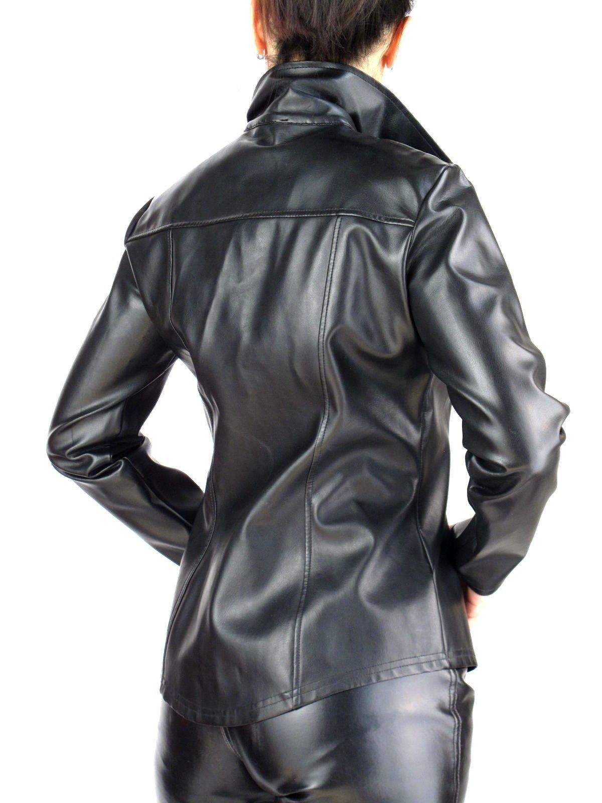 BLACK PVC LEATHER DRESS SHIRT - VINYL RUBBERY from MORGAN | eBay