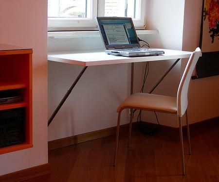 Mesas ahorrar espacio mesa abatible ahorrar espacio y mesas - Mesas de estudio para espacios pequenos ...