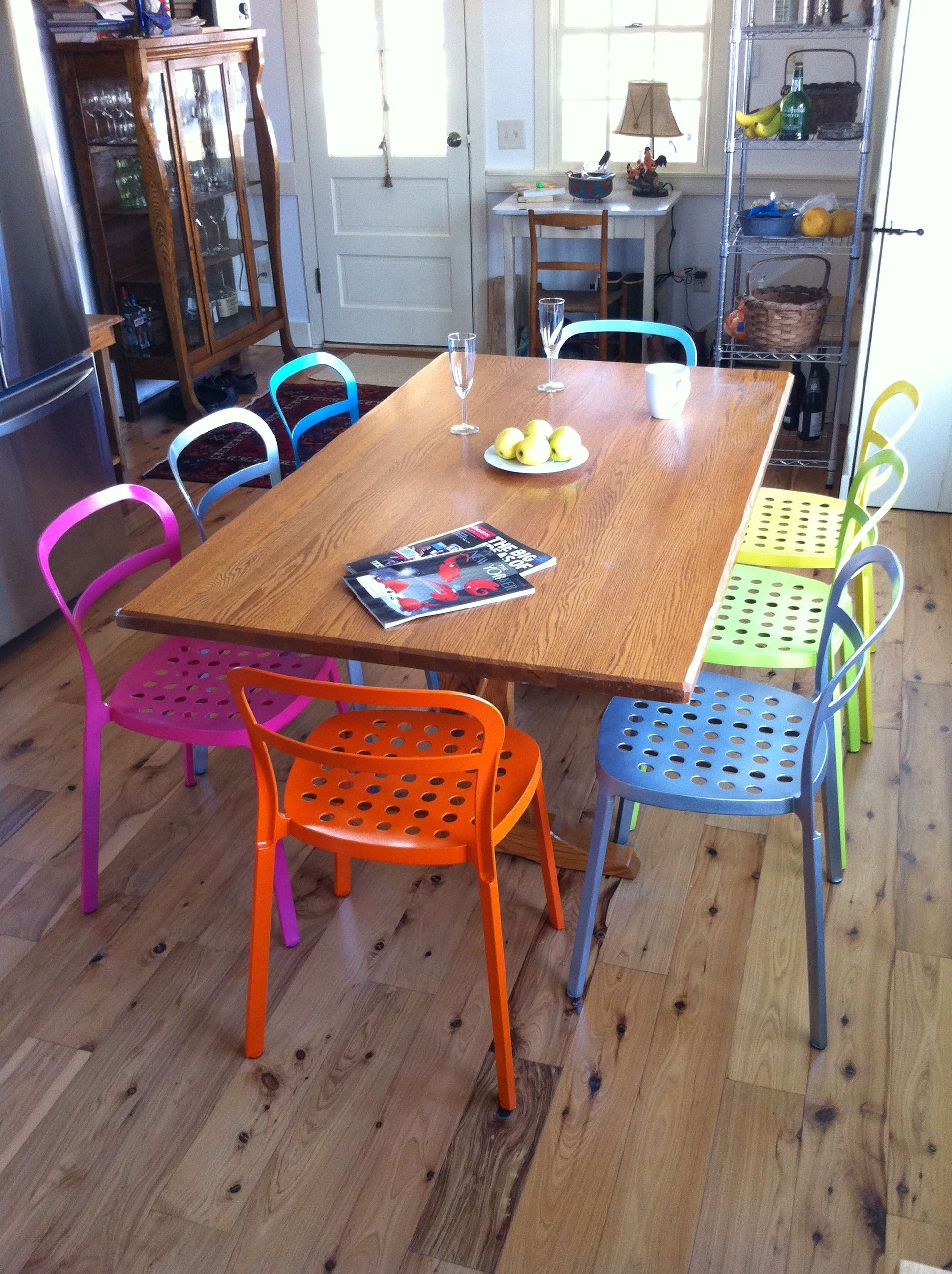 Nice IKEA REIDAR Chair In Multiple Colors Could Look Awesome Around Our Table.  When We Pull Good Ideas