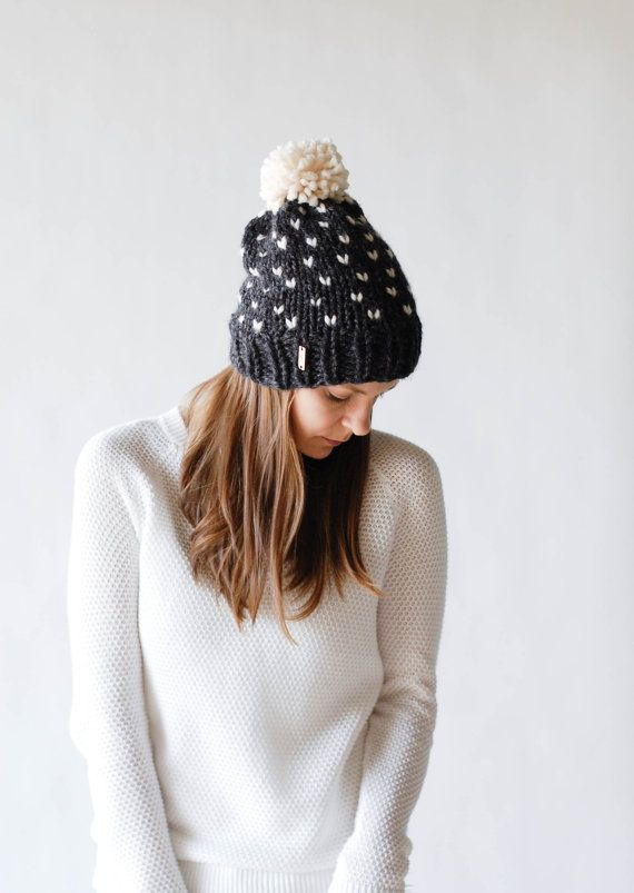Fair Isle Knit Slouchy Hat With Pom Pom / THE ALPINE / by ozetta ...