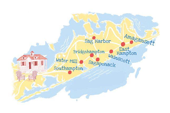 Hamptons New York Map.Long Island New York The Hamptons And Beyond New York Places