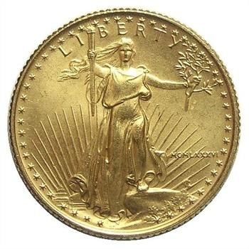 Rare Collectibles: First Year GEM BU 1986 $10 Gold Eagle (Contains 1/4 Troy Oz. of Gold) http://www.propertyroom.com/l/l/9783335
