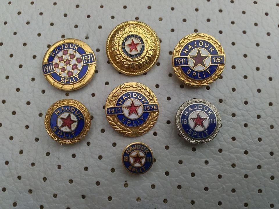 a6e1c651ec2f NK Hajduk Split Hrvatska Football Enamel Vintage pins Badges Croatia Hajduk   NKHajduk