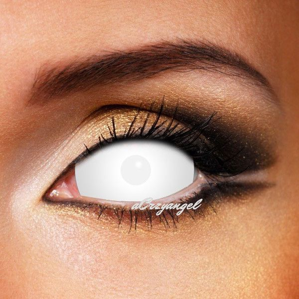 White Blind Sclera Crazy Contact Lenses 22mm Crazyangelens Halloween Contact Lenses Halloween Contacts Red Contacts Lenses
